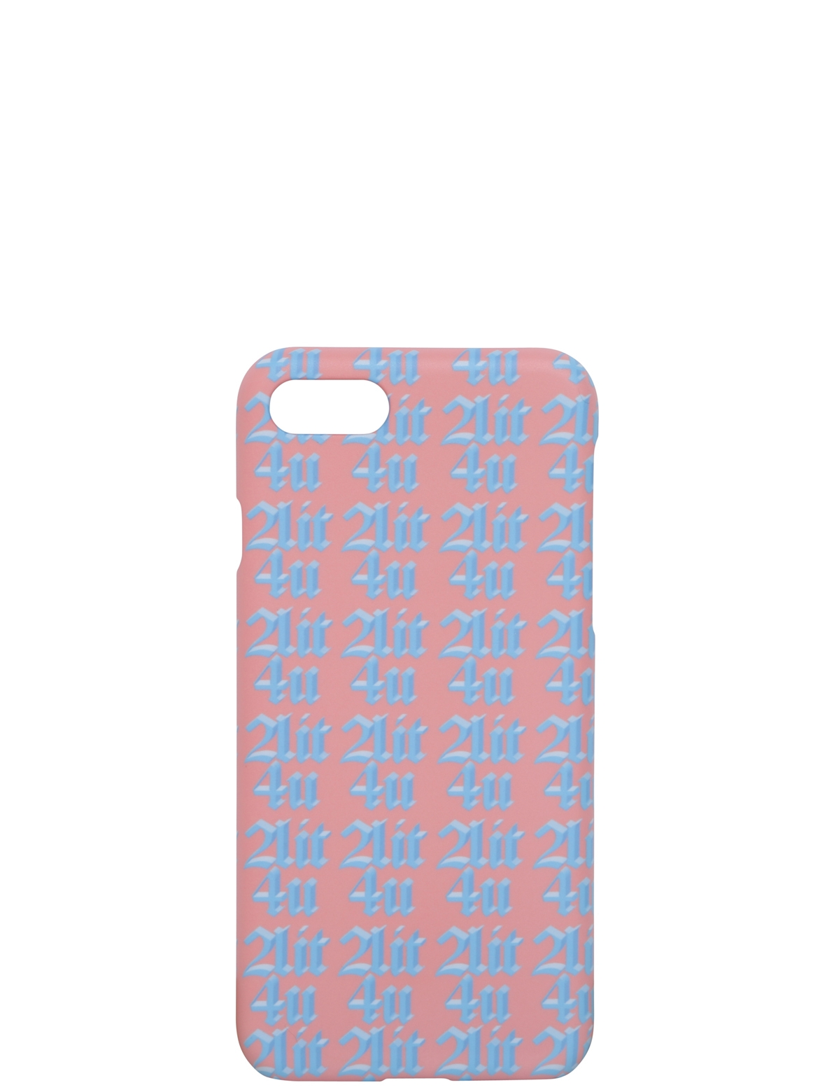 Image of 2LIT4U Slogan Iphone 6 & 7 Case In Peach