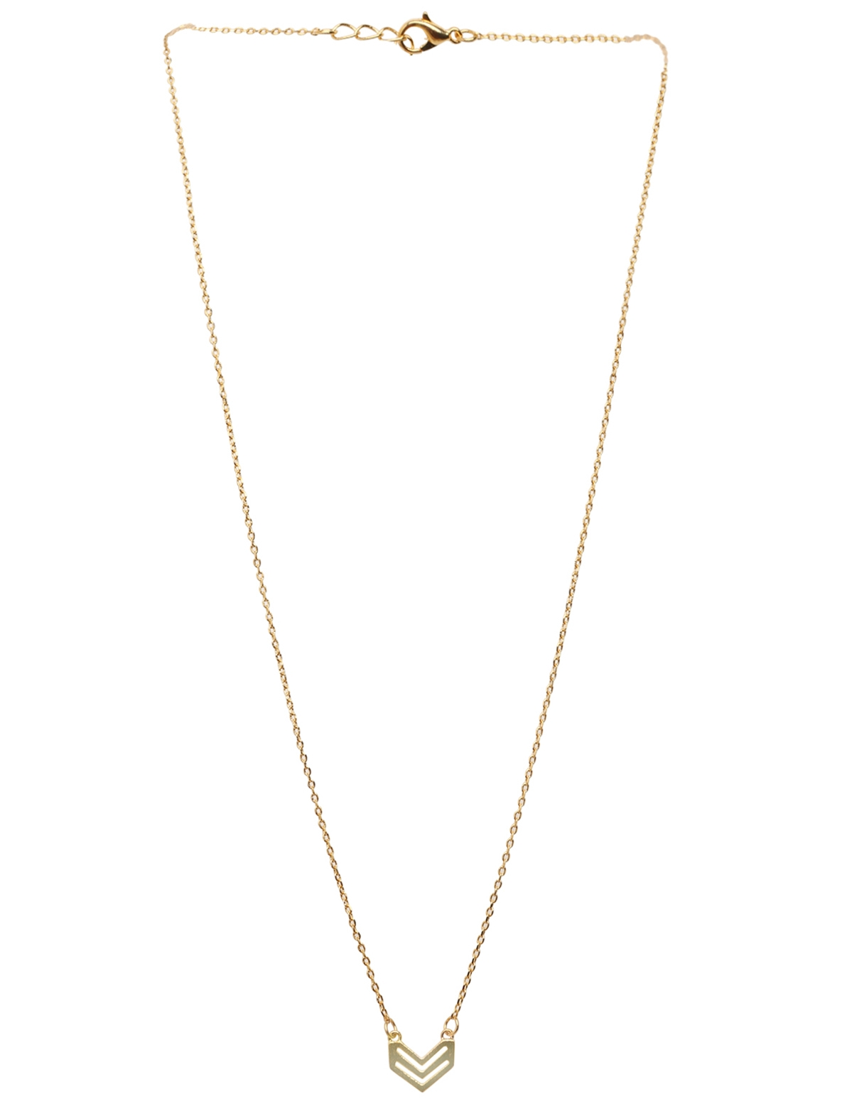 Image of Arrow Shaped Chain Necklace in Gold
