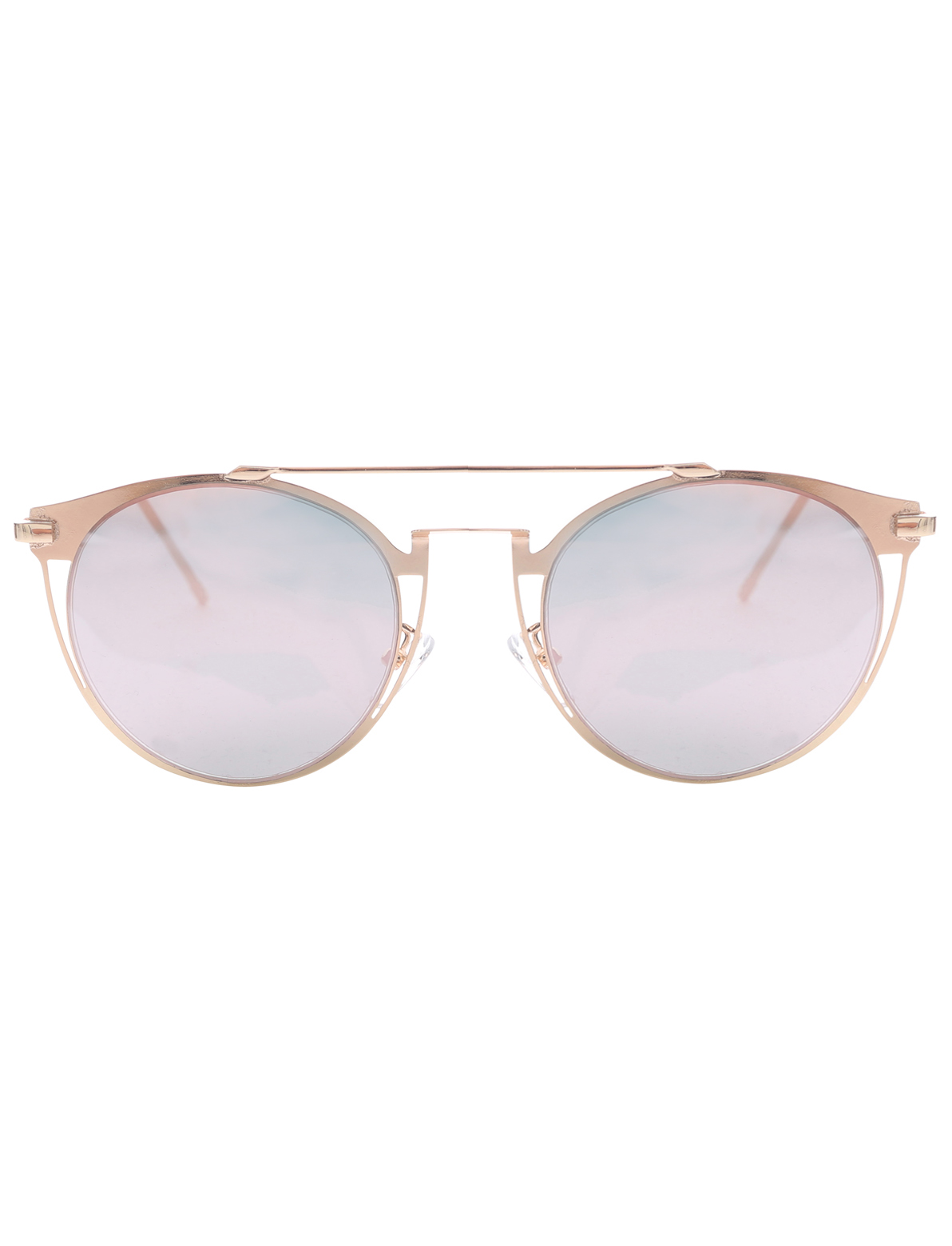 Image of All Eyes On You Mirrored Lens Sunglasses In Rose Gold