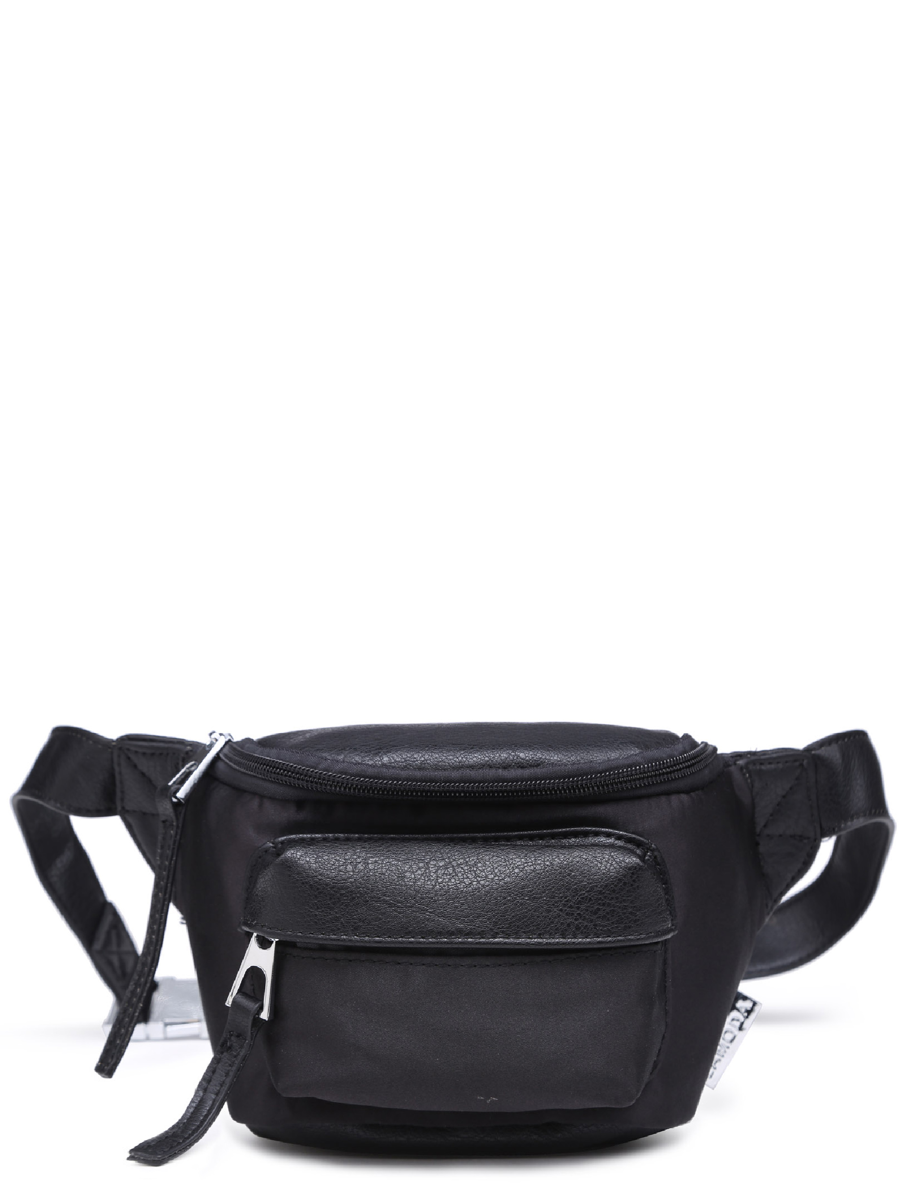 Image of Ambitonz Front Pocket Bumbag In Black PU